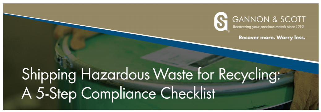 Shipping Hazardous Waste Compliance Checklist